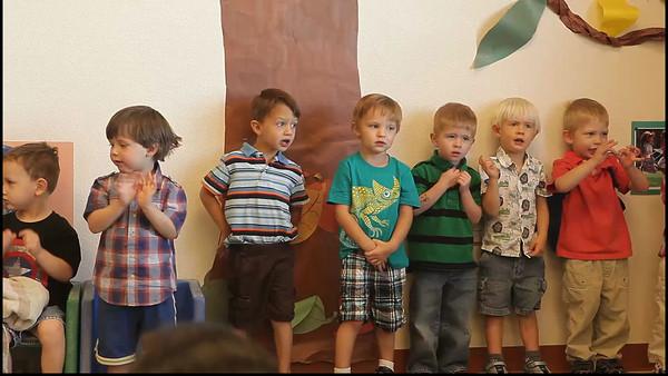Luke's spring program for his two's class at preschool - Wiggle Caterpillar