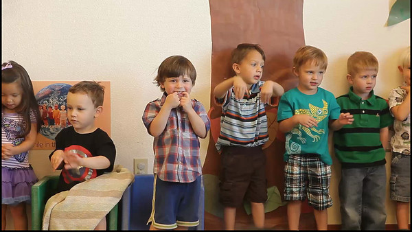 Luke's spring program for his two's class at preschool - My God is so Great