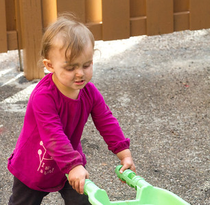 No amount of dirt can stop this girlie on a mission!