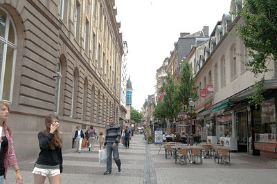 Participants visit the city center of Luxembourg during  the 2012 Ride2Recovery Battle of the Bulge Challenge.