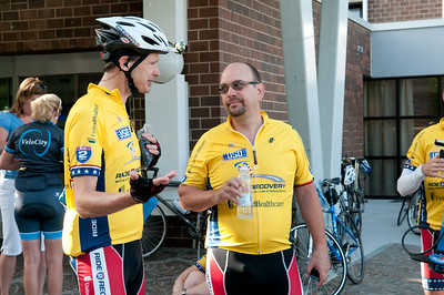 125 cyclists ride during the 2012 Ride2Recovery Battle of the Bulge Challenge.