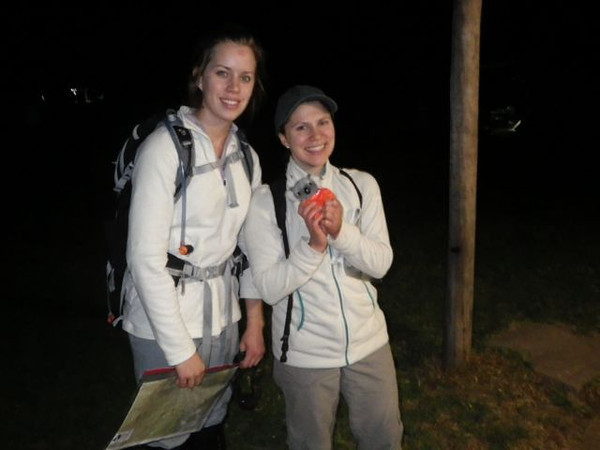 Kelly and Caitlin Young return from the 12hr with Barkley, the ACTRA mascot.