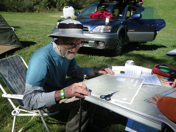 Ron Simpson planning his route!