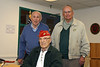 Our WW II Vets - (L to R) Peck Whitcomb, Mike DeSandis (seated) and Med Hammon