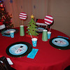 Table set for milk and cookies.