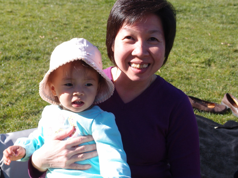Picnic at Golden Gate Park with Phong's cousin Sharon.