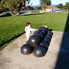 Cannons and cannon balls at the Presidio.