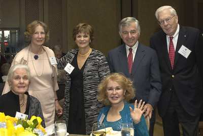 Prudence Crozier, Carroll Cabot, Kitty and Michael Dukakis, trustee William Crozier, and Joan Kennedy