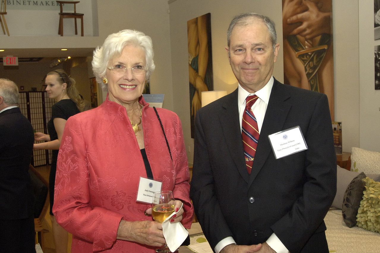Trustee Judy Freeman and former NEHGS Vice President Tom Wilcox.