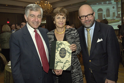 Guests of honor Michael and Kitty Dukakis with NEHGS President and CEO D. Brenton Simons.