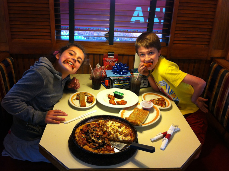 Jillian and Jaedon - Jaedon's 11th Birthday @ Pizza Hut