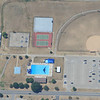 The swimming pool at Whiteman Air Base sports a B-2 outline painted on the bottom of the pool.