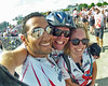 Me Rene and Janne cross the finish line on the Friends for Life Bike Rally from Toronto to Montreal, 3 August, 2012.