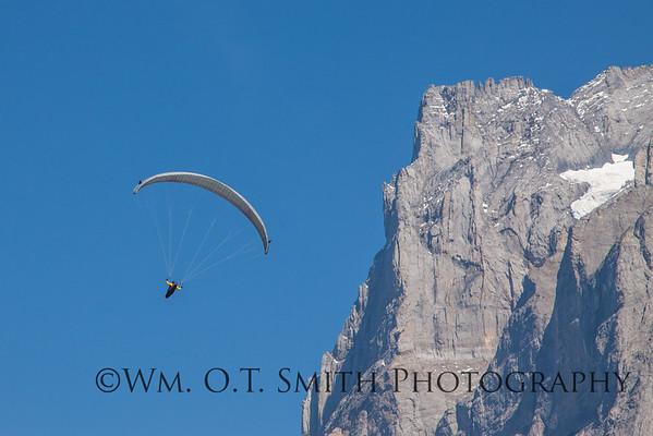 Parasailing over Grindelwald