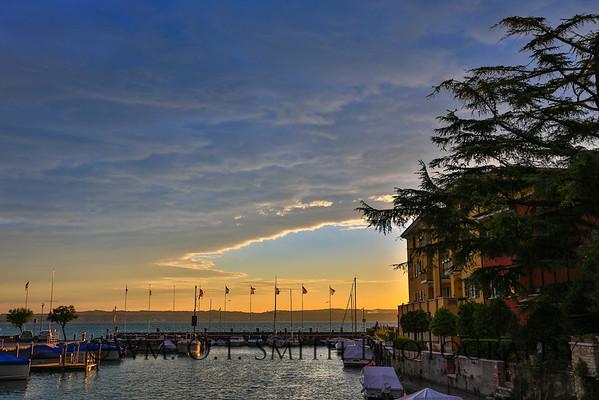 Sirmione on Lake Garda at sunset