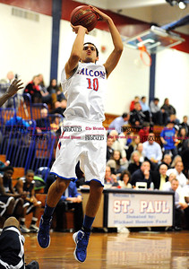 1/6/2012 Mike Orazzi | Staff St. Paul's Justin Gonzalez (10) at SPCHS on Friday night.