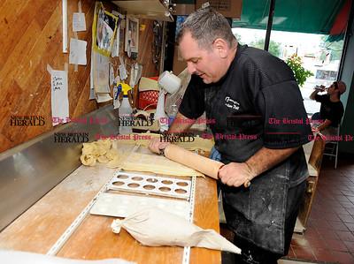 8/1/2012 Mike Orazzi   Staff Tony Nicoletti makes homemade ravioli at La Famiglia on Farmington Avenue in Bristol on Wednesday.  *** for a Lluvia ***