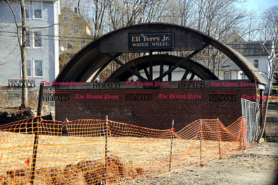 1//31/2012 Mike Orazzi | Staff The Eli Terry Jr. Water Wheel on Route 6 in Terryville. ** for a Susan story **