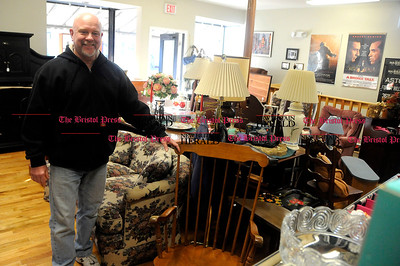 1/31/2012 Mike Orazzi | Staff Bob Korpita with items for sale at Second Time Around in Plainville.  *** for a Diane story **