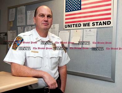 5/6/2011 Mike Orazzi | Staff  Bristol Police Captain Eric Osanitsch.
