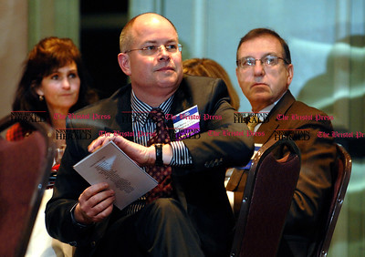1/15/2009 Mike Orazzi | The Bristol Press Kurt Barwis at the Bristol Hospital annual meeting of the Corporators held at the Clarion Hotel in Bristol on Thursday night.