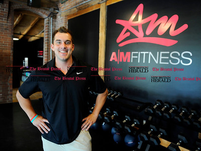 6/01/2012 Mike Orazzi | Staff Mike Harland at AM Fitness in Plainville on Friday.  *** for a Diane story ***