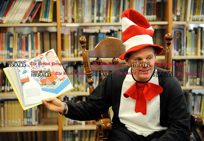 "3/2/2012 Mike Orazzi  | Staff Mt. View School Principal David Huber reads  Dr. Seuss' ""If I Ran The Circus"" to second grade students from Mrs Nancy Fuller's class on Friday."