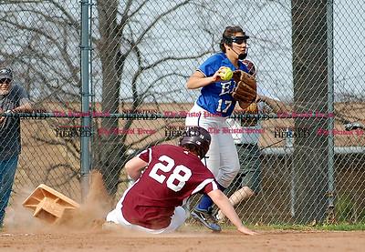The Rams Jessica Morelli slides into third base on Monday.  Johnny Burnham | Staff