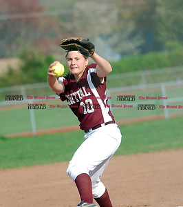 Emily  Cintorino fires a pitch in the seventh inning in her shutout win of East Catholic.  Johnny Burnham | Staff