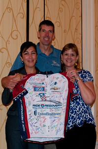 Ride2Recovery participants attend registration for the 2012 Ride2Recovery Minuteman Challenge .