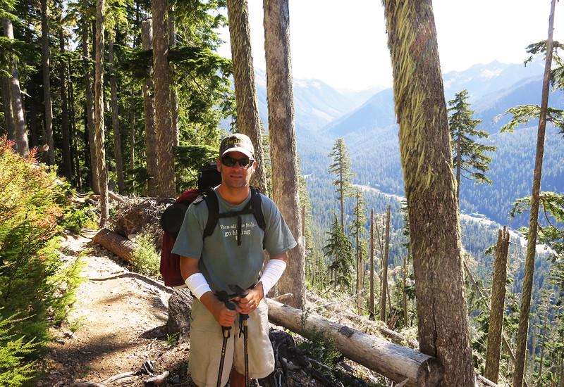 Matt above the Hoh Valley