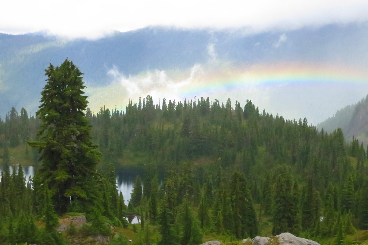 Rainbow over Sol Duc Valley