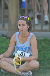 Emily Fortier Snacks after the race