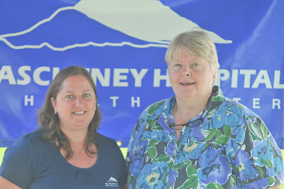 "Amber Cutler (left) Beth Gould ""RN"" (right)  Mount ascutney sponsored the event"