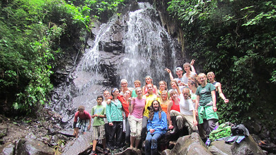 change the world kids at our waterfall on our second parcel