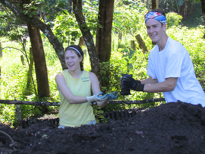 melissa croft and julian scherding passing trees from our nursery