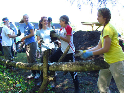 julian scherding, finn mcfarland, stephanie ambrose, casey starr, and kristin ramsey passing trees
