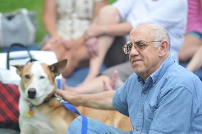 Larry Kasden and dog, Roscoe