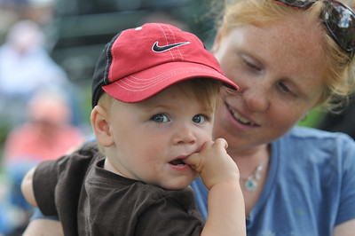 Noah Coyle (left) with mom, Ashely Moore