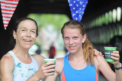 Martha Perkins (left) Lindsay Stuntz (right) enjoy much needed water
