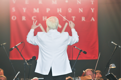 Andrew Massey Conducts the orchestra