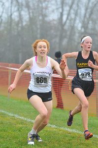 Elizabeth Bassette at the finish