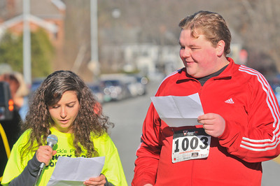 Hannah Sadwith (left), Tanner Dow (right) read a prayer written by Zack's place members
