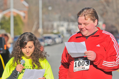 Hannah Sadwith (left), Tanner Dow (right) read a prayer written by Zack's place members 2