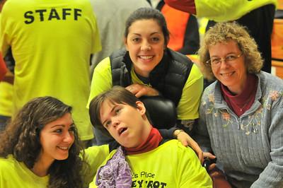 Hannah Sadwith (left), Ali Mcevoy (center top), Lisa Burrell (right), Jessica Burrell (center bottom)
