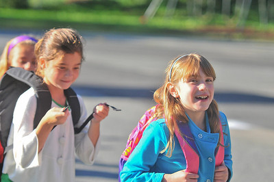 Carolyn Leiby (right) Heads to school