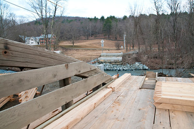 Bowers Covered Bridge Restoration West Windsor VT March 19, 2012 Copyright ©2012 Nancy Nutile-McMenemy www.photosbynanci.com For The Vermont Standard: http://www.thevermontstandard.com/ Image Galleries: http://thevermontstandard.smugmug.com/