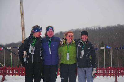 Right2left Christy Harris, Elizabeth Bassette, Finn Mcfarland, Anna Ramsey [2nd place girls relay team]