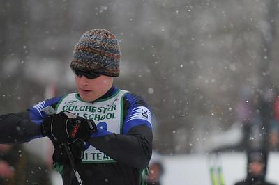 Harry Linowski gets ready to race