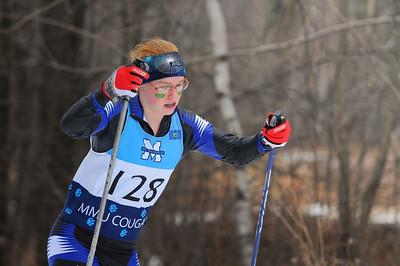 Katherine Bassette skis hard